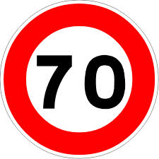 limitation de vitesse 70