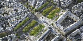 boulevard parisien vue du ciel