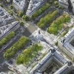 vue aérienne boulevard parisien