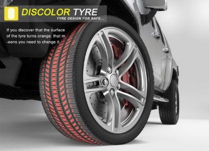 Des pneumatiques en couleur