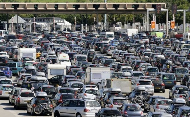 embouteillage peage