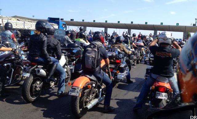 Les motards au Maroc