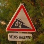 vitesse excessive pour des cyclistes