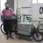 velocité, coursiers à vélo